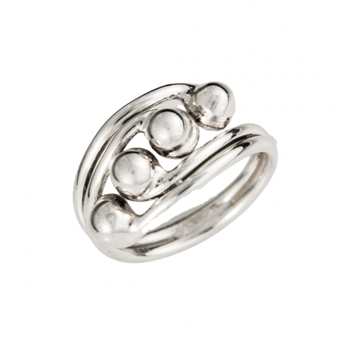 Siesta Silver Jewelry Four Ball Statement Ring R7604