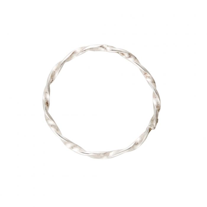 Thin Twist Ring in sterling silver Siesta Silver Jewelry