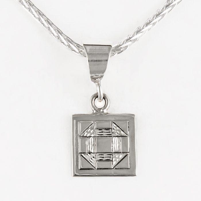 Churn Dash Quilt Jewelry Charm