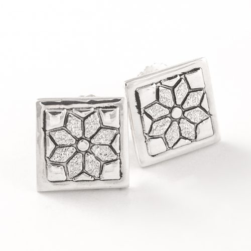 Dresden Plate Quilt Jewelry Post Earrings