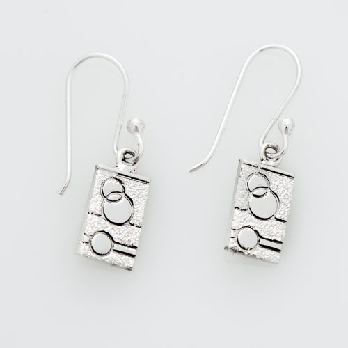 Glitzy Sister Quilt Jewelry Hook Earrings