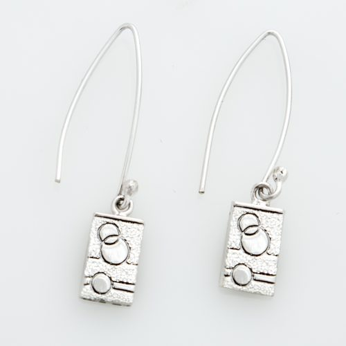 Glitzy Sister Quilt Jewelry Long Wire Earrings