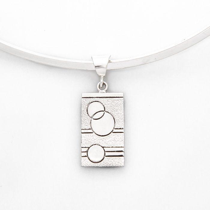 Glitzy Sister Quilt Jewelry Medium Pendant