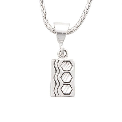 Sexy Hexie Quilt Jewelry Charm in Sterling Silver Siesta Silver Jewelry