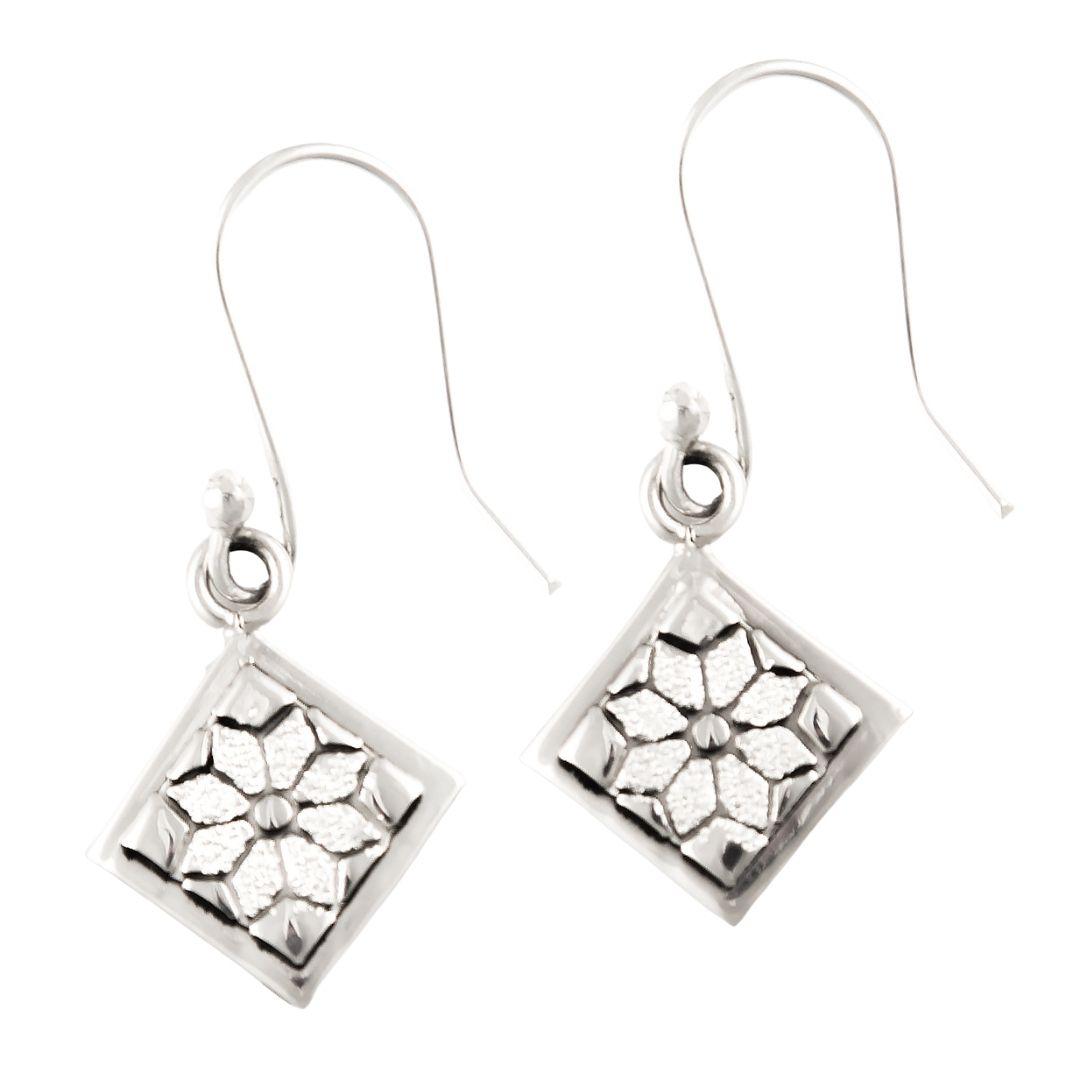 Dresden Plate Quilt Jewelry Hook Earrings Siesta Silver Jewelry