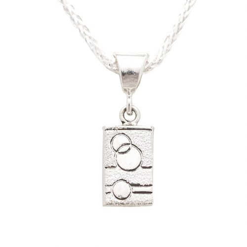 Glitzy Sister Quilt Jewelry Charm in Sterling Silver Siesta Silver Jewelry