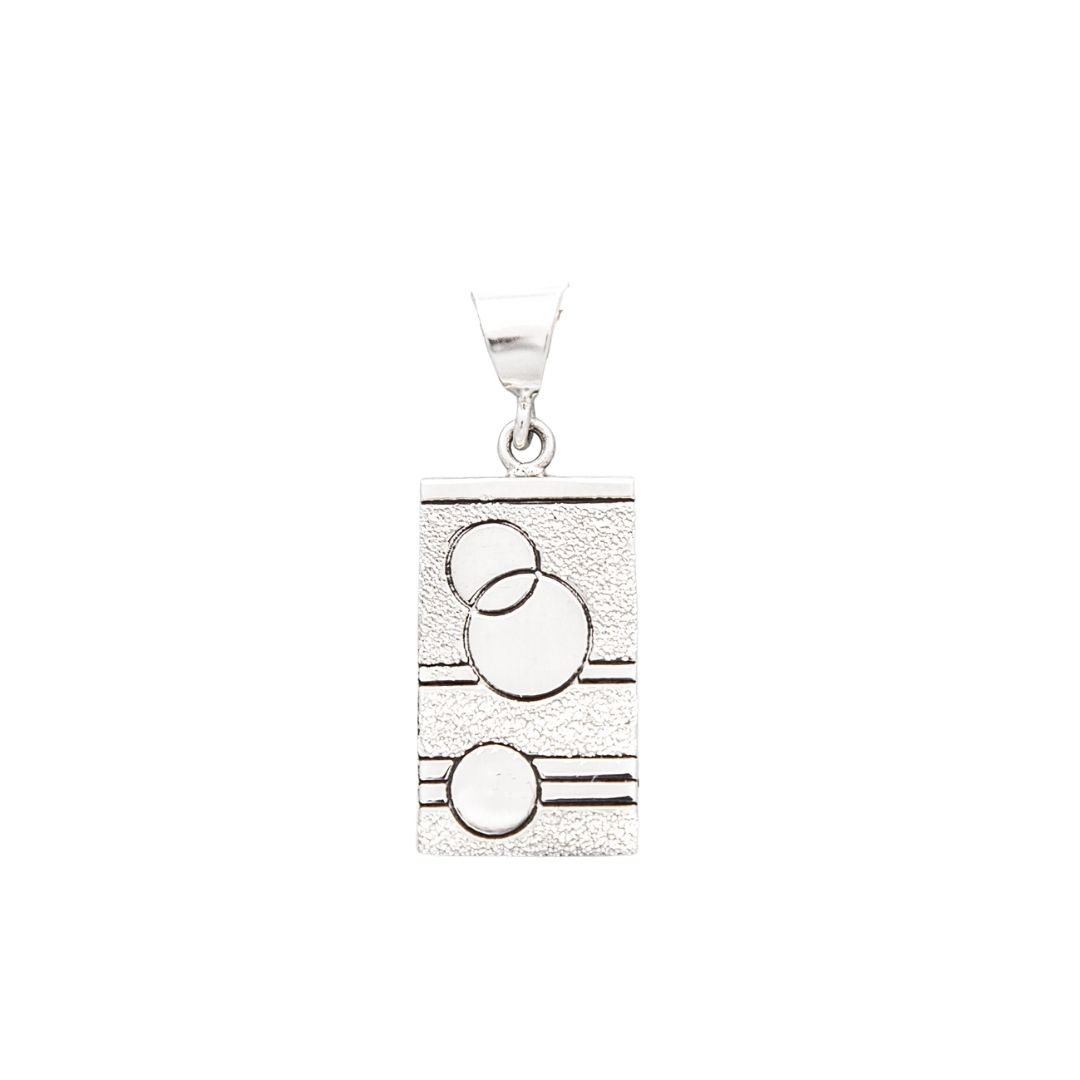 Glitzy Sister Quilt Jewelry Medium Pendant in Sterling Silver Siesta Silver Jewelry