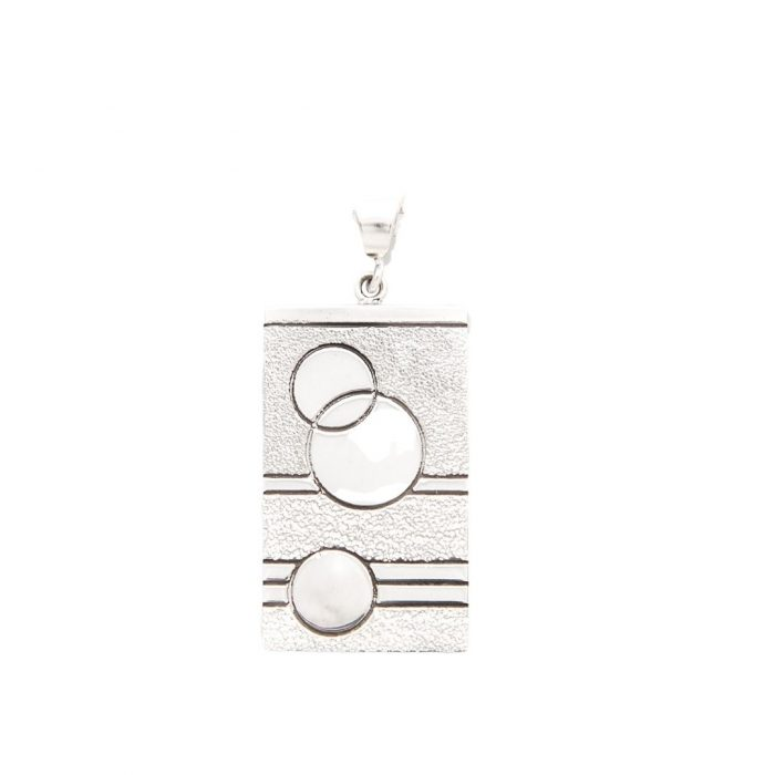 Glitzy Sister Quilt Jewelry Large Sterling Silver Pendant Siesta Silver Jewelry