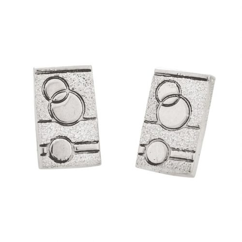 Glitzy Sister Quilt Jewelry Post Earrings in sterling silver Siesta Silver Jewelry