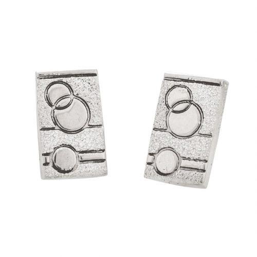 Glitzy Sister Quilt Jewelry Post Earrings in sterling silver Siesta Silver Jewelry