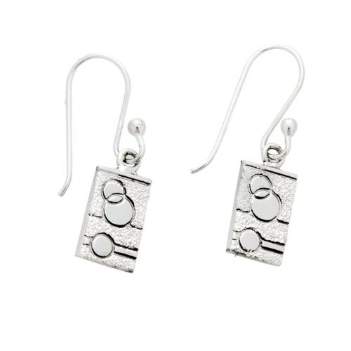 Sexy Hexie Quilt Jewelry Hook Earrings in sterling silver Siesta Silver Jewelry