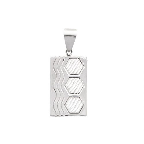 Sexy Hexie Quilt Jewelry Large Pendant in sterling silver Siesta Silver Jewelry