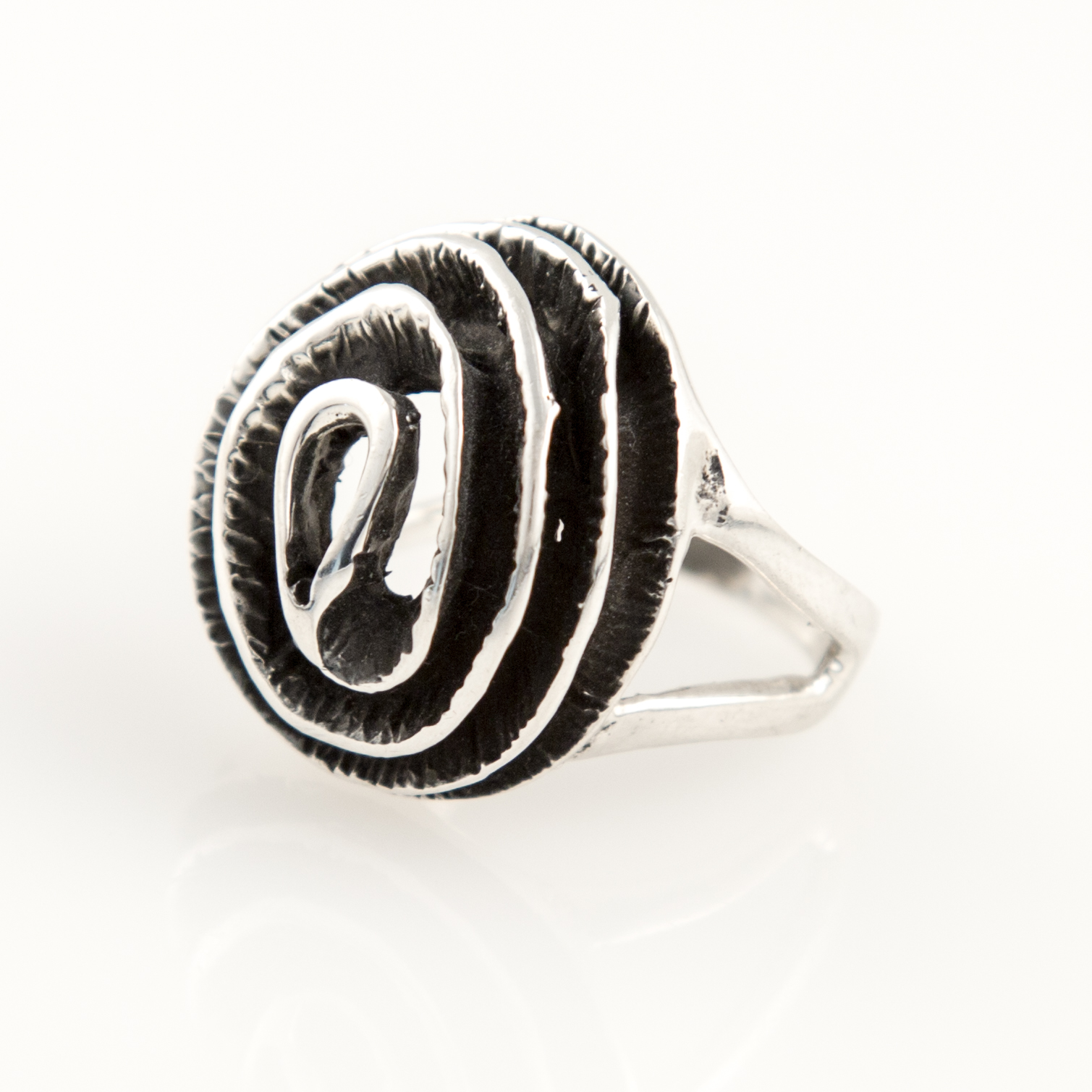 Majestic Swirl Cocktail Sterling Silver Ring