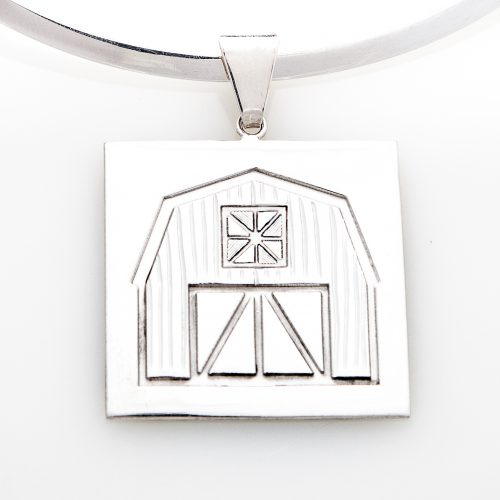 Quilt Barn Quilt Jewelry Large Pendant