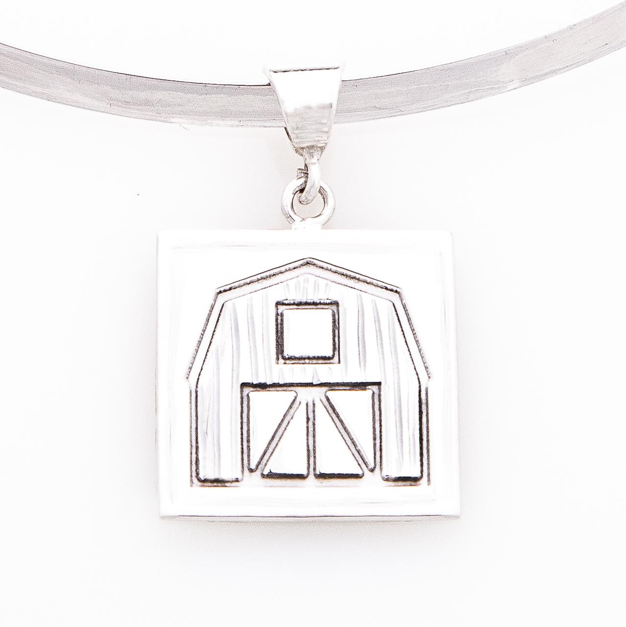 Quilt Barn Quilt Jewelry Medium Pendant