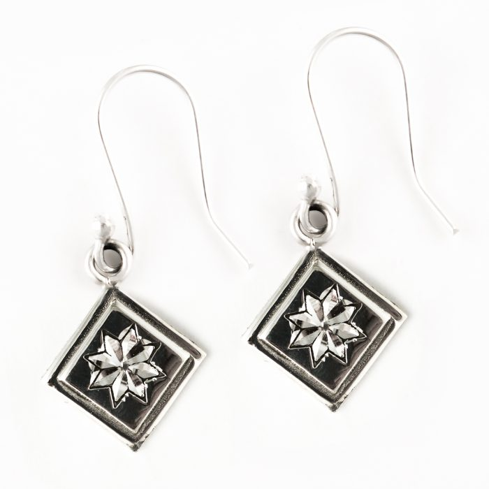 Lemoyne Star Quilt Jewelry Hook Earrings