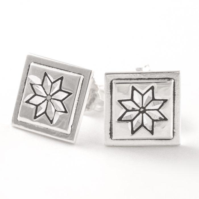 Lemoyne Star Quilt Jewelry Post Earrings