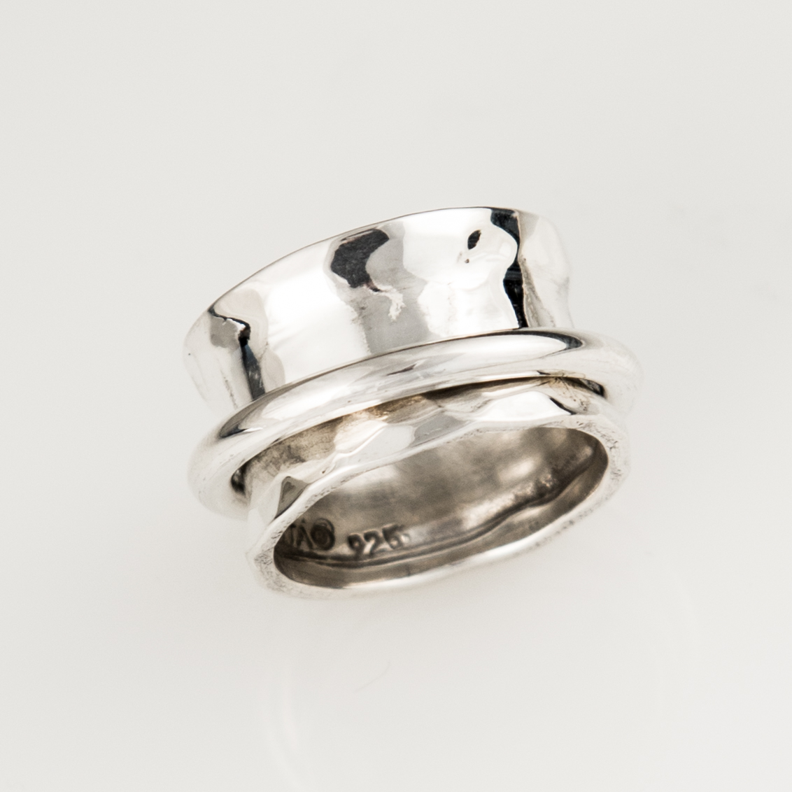 Ring Around the Ring Spinner Sterling Silver Ring