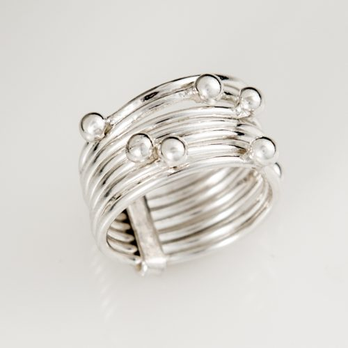 Seven Ball Sterling Silver Ring