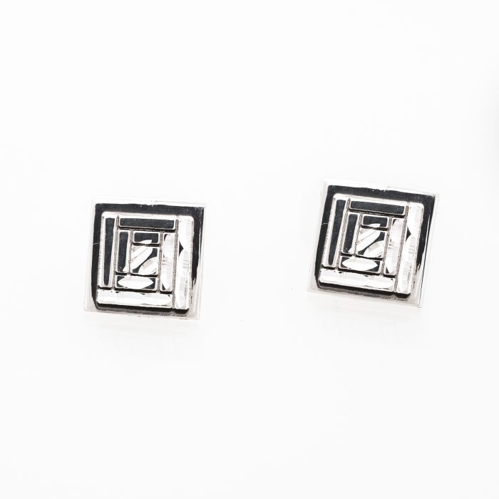 Log Cabin Quilt Jewelry Post Earrings