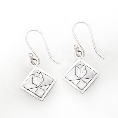 Tulip Quilt Jewelry Hook Earrings