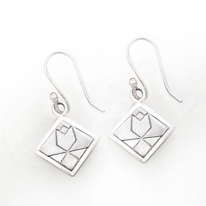 Tulip Quilt Jewelry Hook Earrings