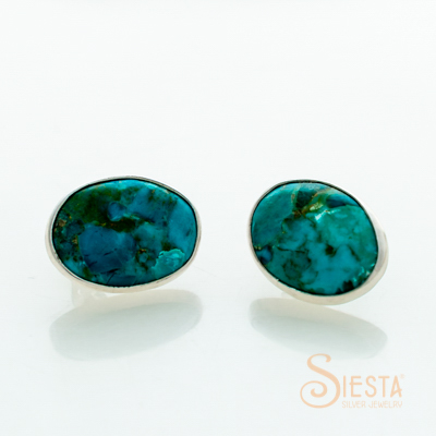 Sterling Silver Turquoise Earrings on Post