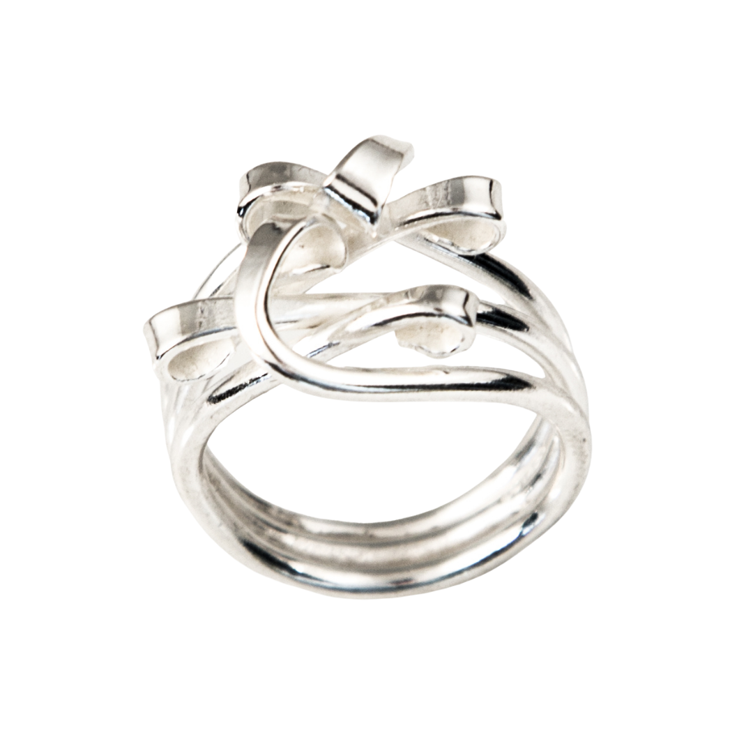 Siesta Silver Jewelry Tender Tendrils Bow Statement Ring R7012