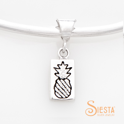 Crowned Pineapple Mini Charm Pendant