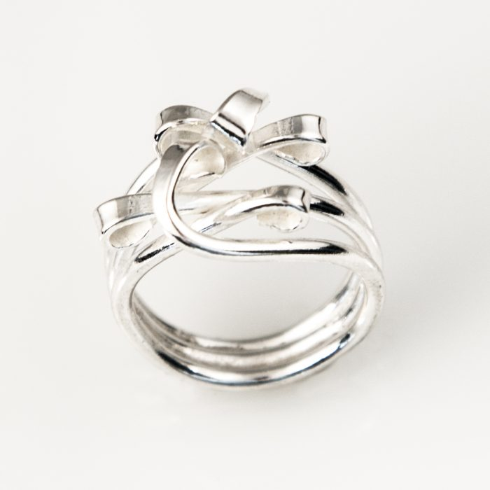 Tender Tendrils Sterling Silver Ring
