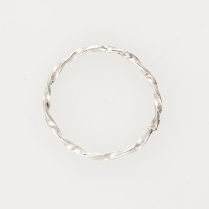 Thin Twist Stackable Sterling Silver Ring