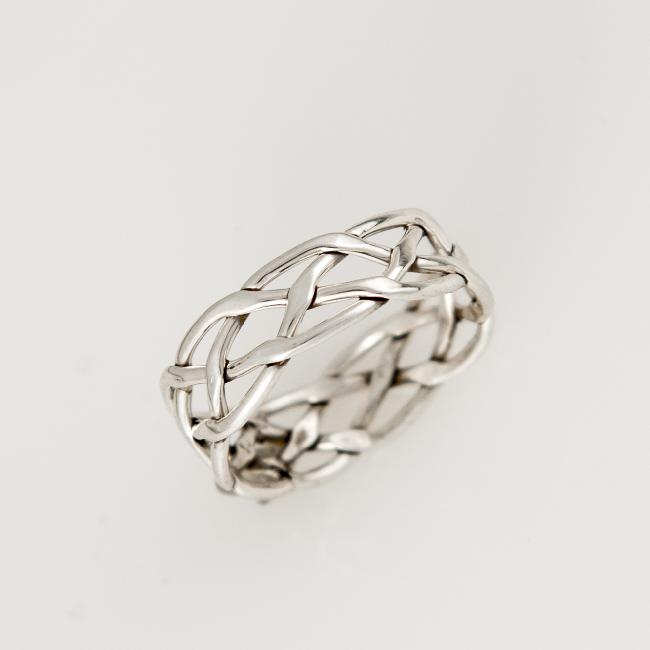 Thin Weave Sterling Silver Ring