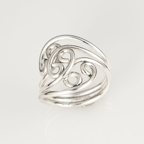 Triple Flower Sterling Silver Ring