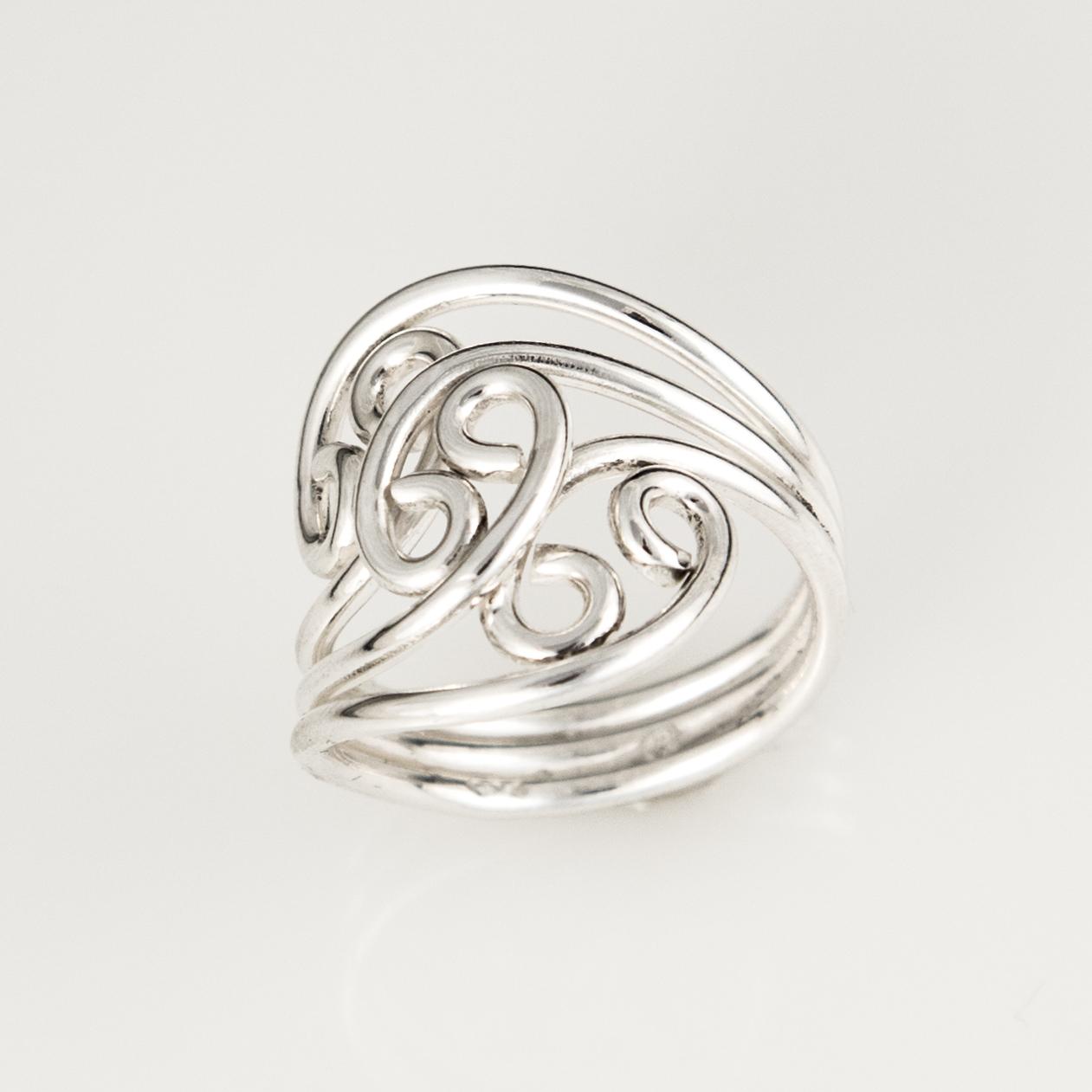 Triple Flower Sterling Silver Ring