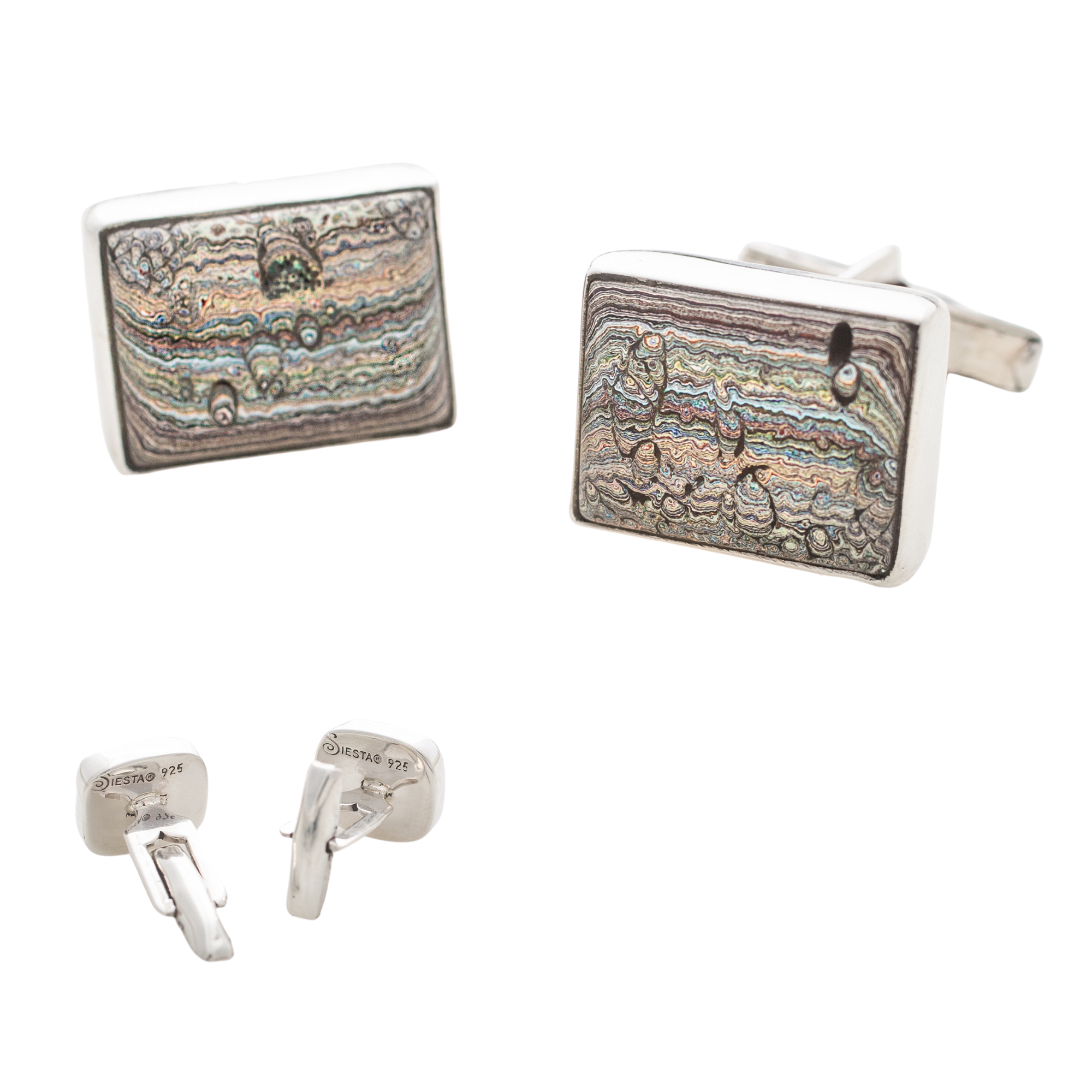 Fordite Vintage Ford Cuff Links 2