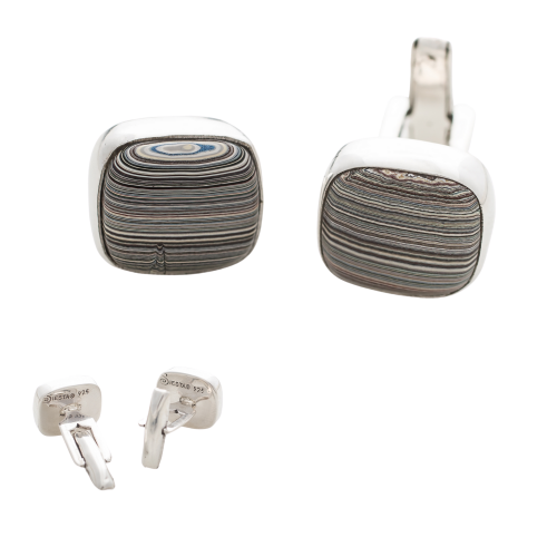 Fordite Vintage Ford Cuff Links 1