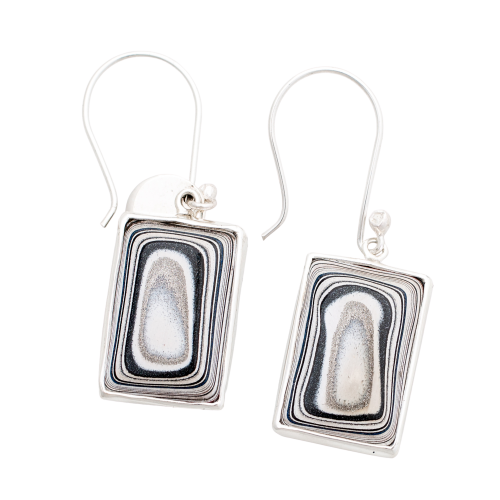 Fordite Sterling Silver Earrings