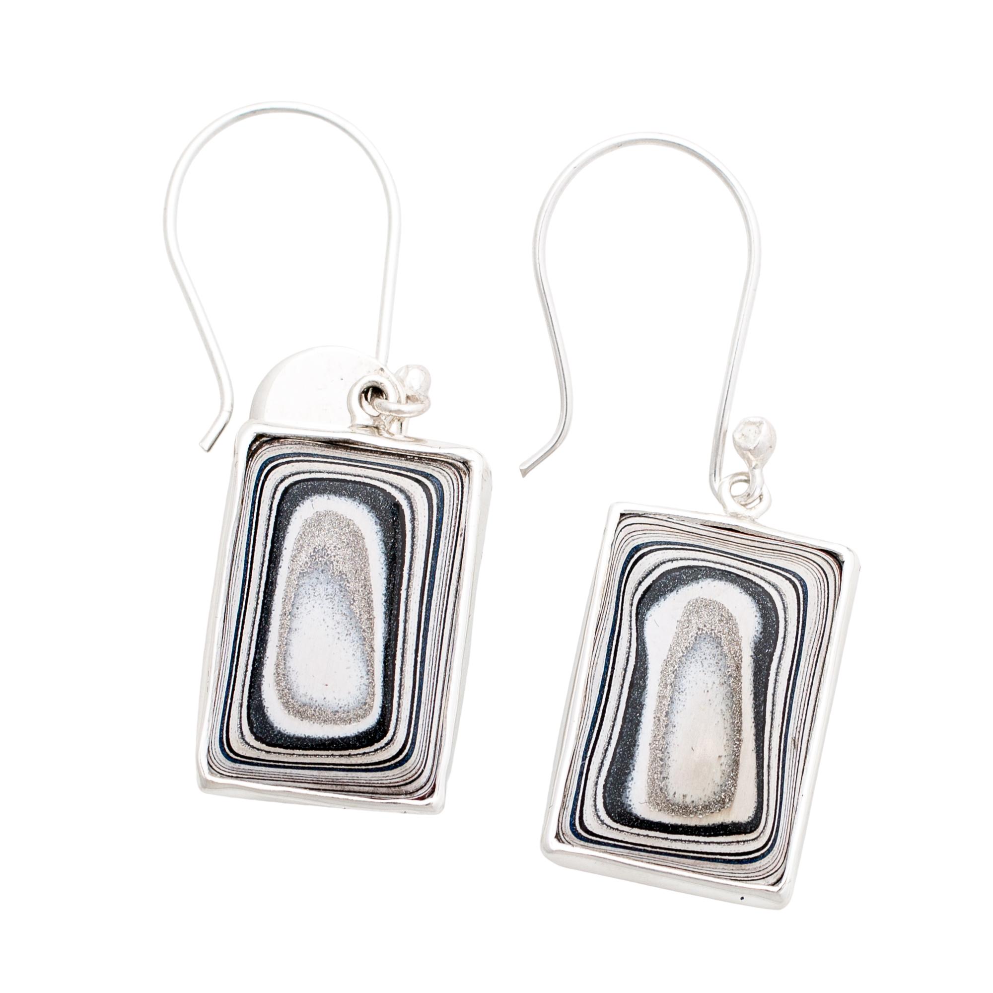 Fordite Sterling Silver Earrings