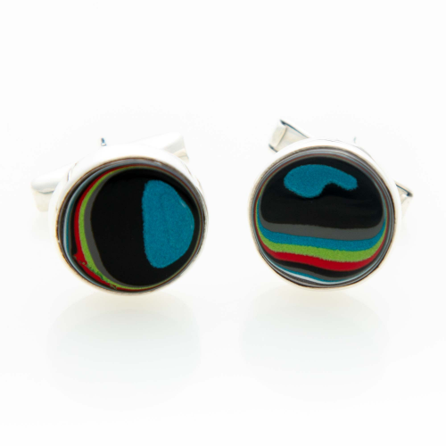 Fordite Jeep Paint Cuff Links