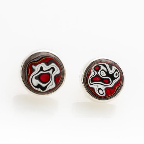 Fordite Mustang Paint Post Earrings