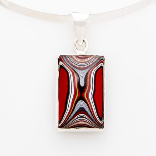 Fordite Mustang Paint Pendant PMustM2