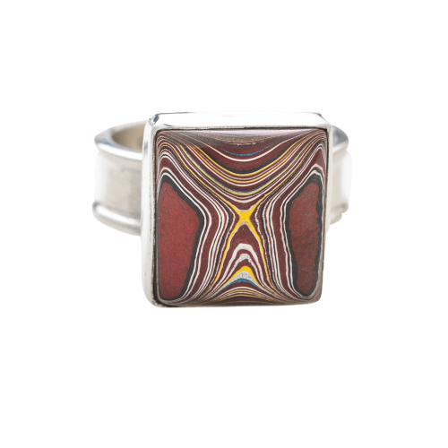Fordite Corvette Paint Sterling Silver Ring