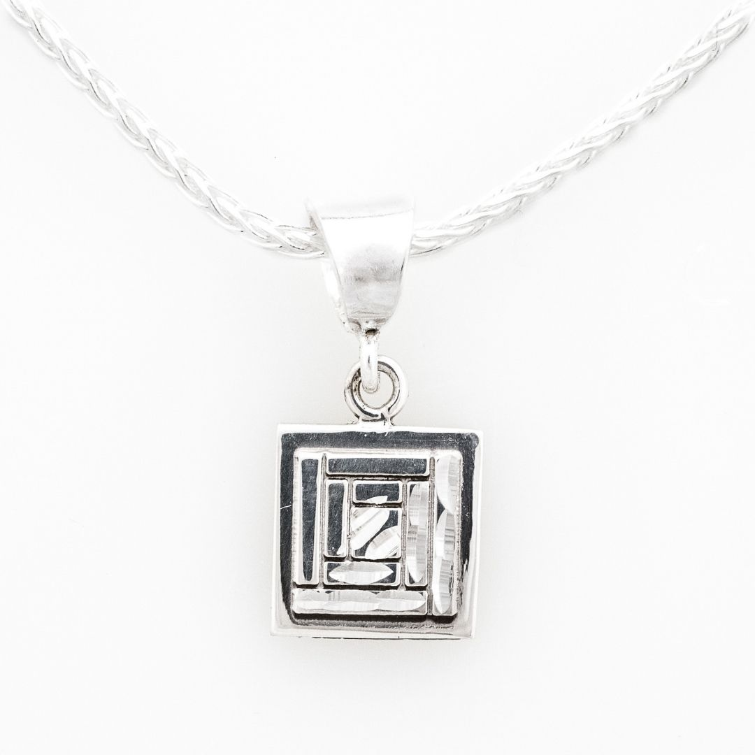 Log Cabin Quilt Jewelry Sterling Silver Charm Siesta Silver Jewelry
