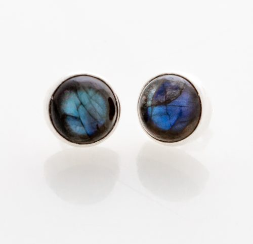 Labradorite Post Earrings in Sterling Silver Siesta Silver Jewelry