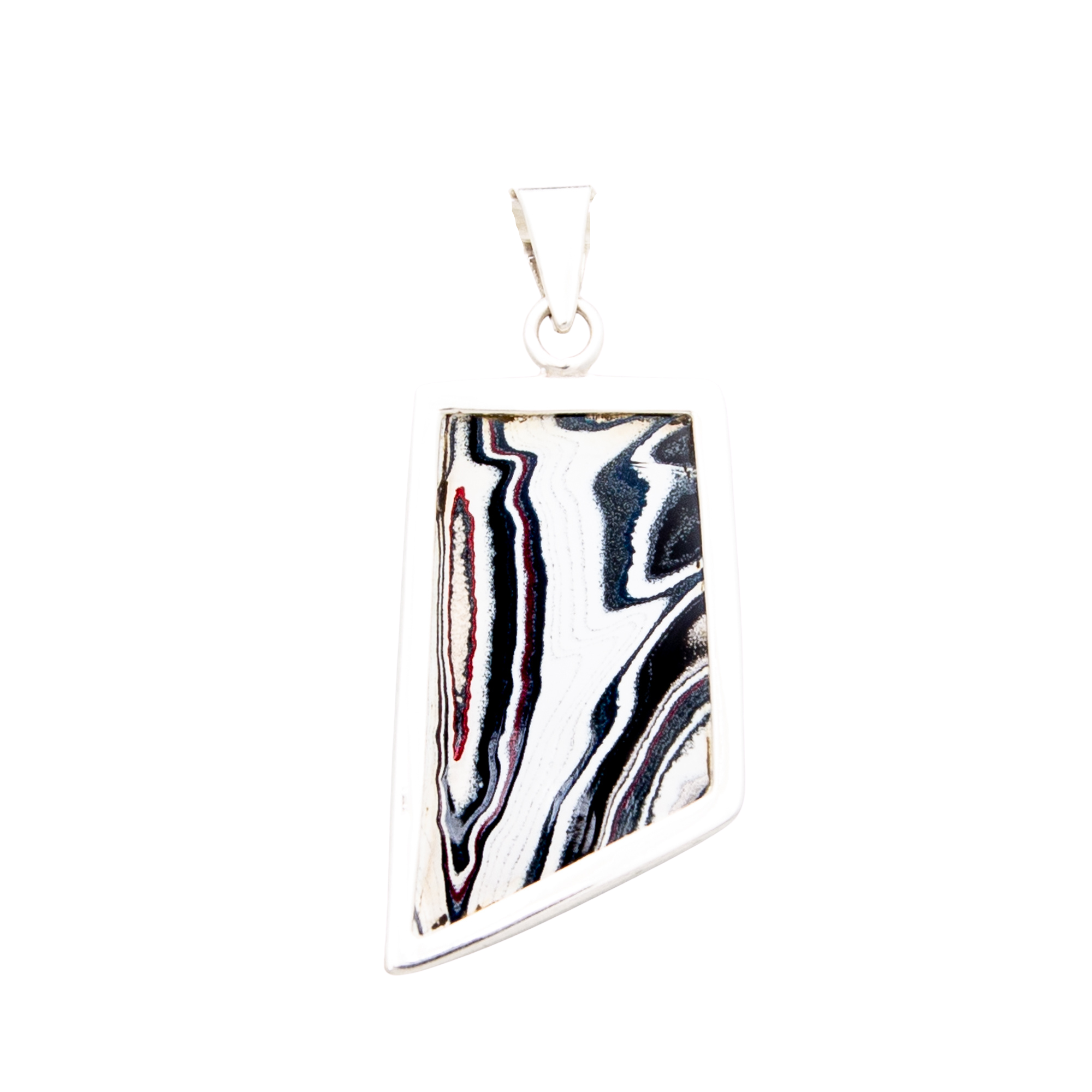 Fordite Sterling Silver Extra Extra Large Pendant Double Sided Nickel Free Detroit Agate Siesta Silver Jewelry