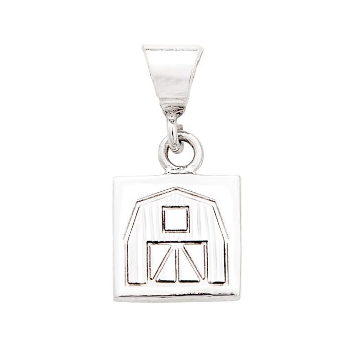 Quilt Barn Quilt Jewelry Charm in Sterling Silver Siesta Silver Jewelry
