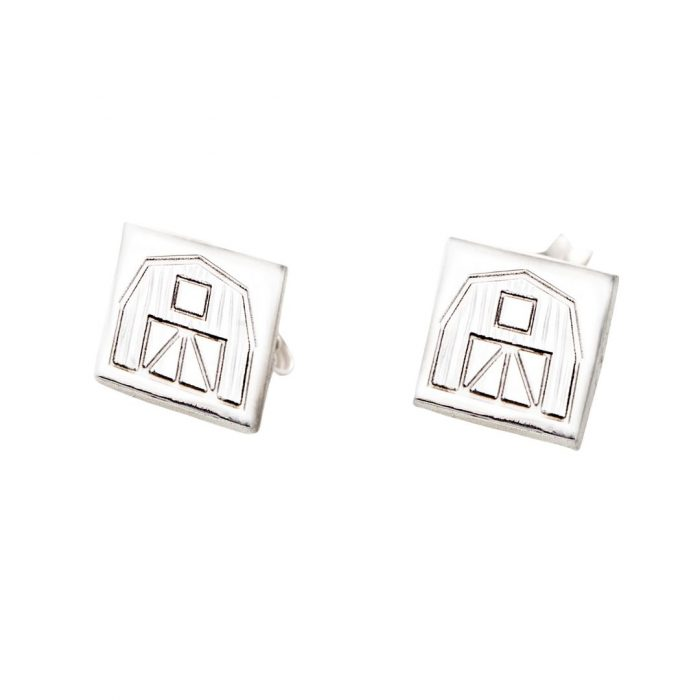 Quilt Barn Quilt Jewelry Post Earrings in Sterling Silver Siesta Silver Jewelry