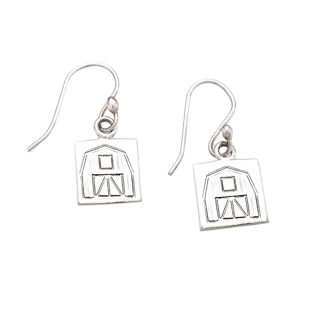 Quilt Barn Quilt Jewelry Hook Earrings Siesta Silver Jewelry