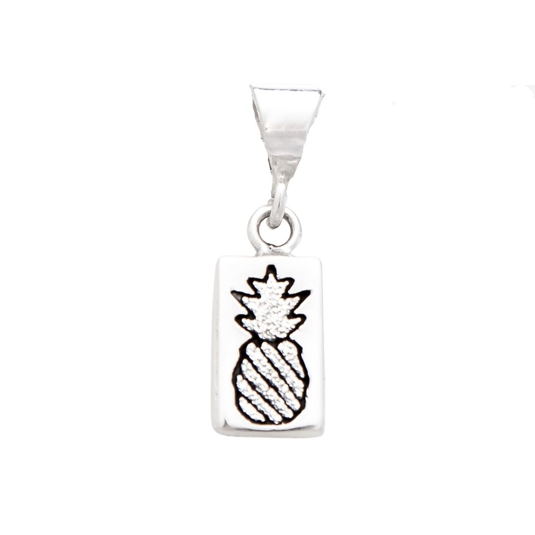 Crowned Pineapple Quilt Jewelry Charm in sterling silver Siesta Silver Jewelry