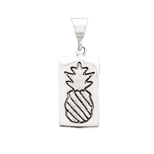 Crowned Pineapple Quilt Jewelry Charm Pendant in Sterling Silver Siesta Silver Jewelry